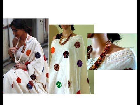 How to make designer Saree / DUPATTA / STOLE at home using scrap| PATCH WORK