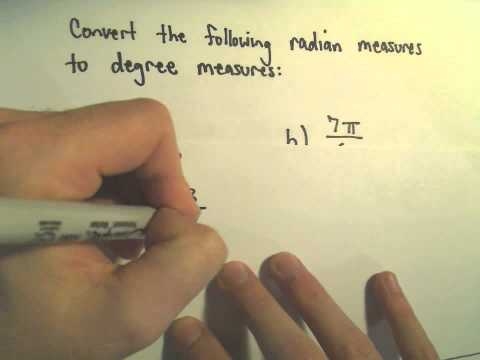 Degrees and Radians and Converting Between Them! Example 2