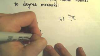 Degrees And Radians And Converting Between Them Example 2