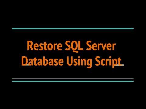 Restore SQL SERVER Database Backup using Script?