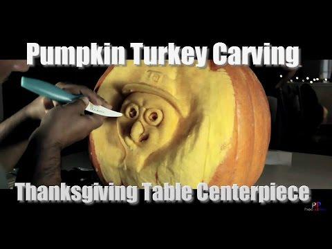 Pumpking Turkey Carving - Thanksgiving Table Centerpiece