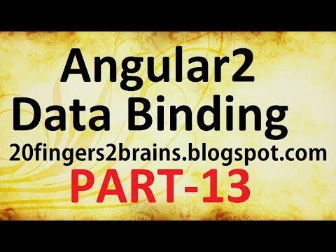 Angular 2 - Data binding