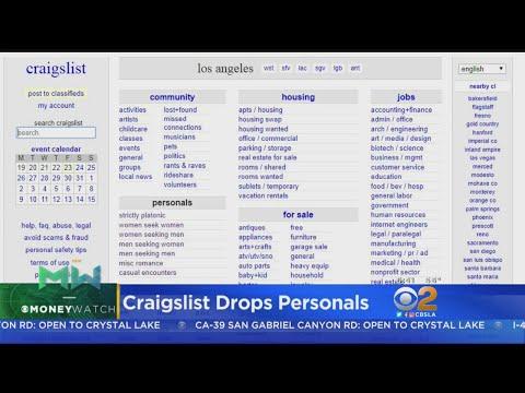 Craigslist Drops Personal Ads