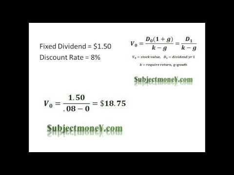 Dividend Discount Model (DDM) - Constant Growth Dividend Discount Model - How to Value Stocks