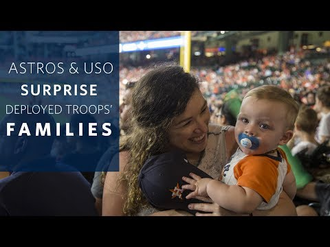 Houston Astros and USO Surprise Military Families with Messages from Their Deployed Loved Ones