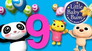 Numbers Song | Number 9 | Nursery Rhymes | Original Song By LittleBabyBum!