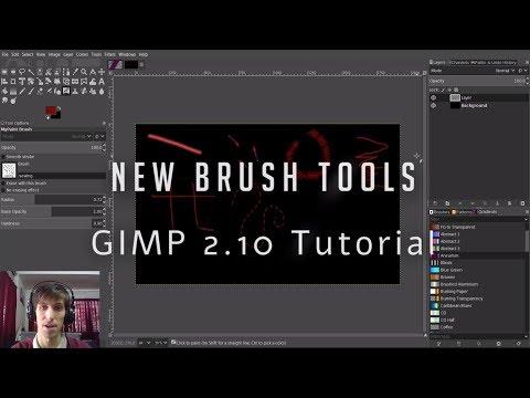 New Brush Tools Demonstration - GIMP 2.10 Tutorial