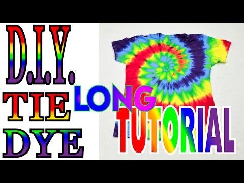 DIY Tie Dye Rainbow Spiral Shirt [Full Tutorial] #39