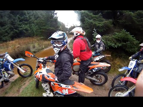 Ktm Trail riding with the boys