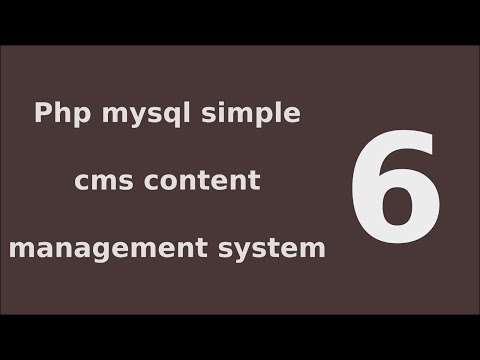 php mysql simple cms content management system tutorial - 6 List Pages