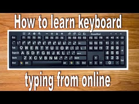 How to learn keyboard typing from online