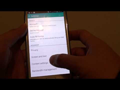 Samsung Galaxy S5: How to Reset Internet Browser Settings to Default