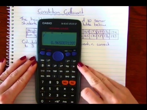 Correlation Coefficient CASIO calculator