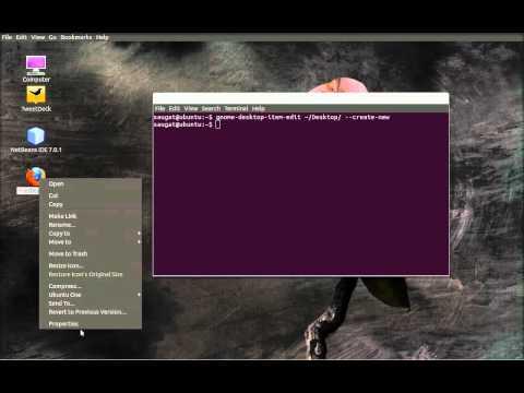 How to create website shortcut in Ubuntu 11.10