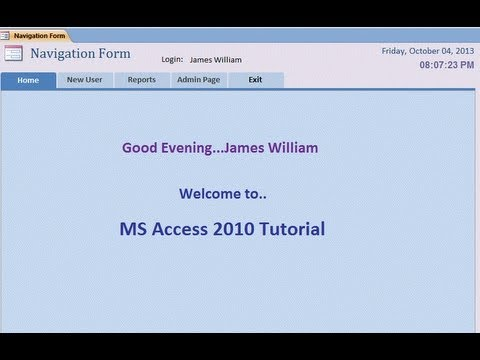 How to create Navigation Bar: MS Access 2010