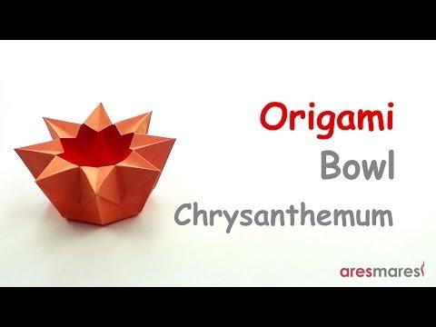 Origami Chrysanthemum Bowl (easy - single sheet)