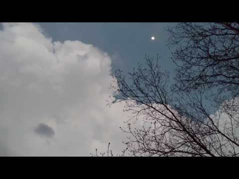 Beautiful lightning during the day and Moon