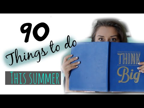 90 things to do this Summer ll Summer Bucket List