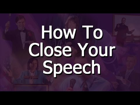 Public Speaking Tips - How To End A Speech