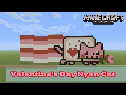 Minecraft: Pixel Art Tutorial and Showcase: Happy Valentine's Day Nyan Cat