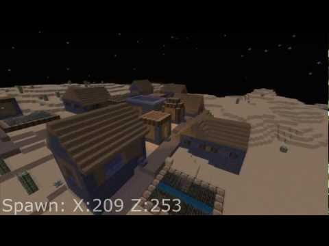 Minecraft 1.2.5 RARE Village Seed + The LONGEST River Ever! - Seed Spotlight #3