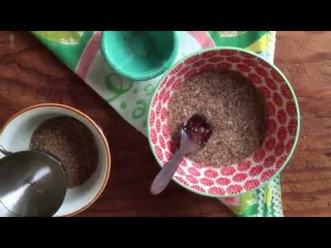 How to make a flax egg. Egg substitute for vegan and egg free baking