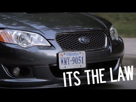 My Solution to the Front License Plate Law