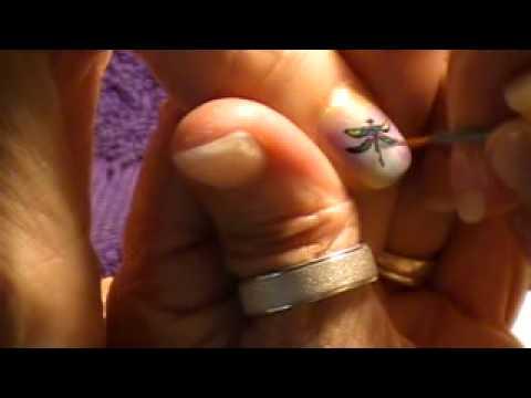 Dragonfly nail art by Freeda Latham