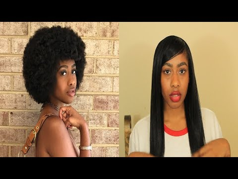 Straightening 4C Natural hair WITHOUT heat damage