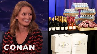 Katy Tur On Trump's Bizarre Press Conference About Steak  - CONAN on TBS