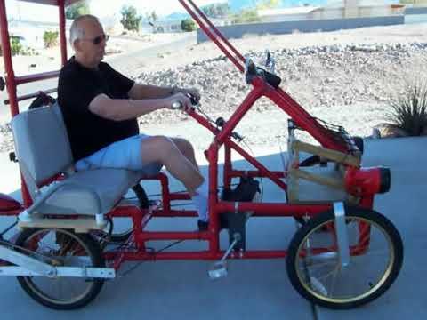 American Speedster PVC 4 wheel bicycle.MOV