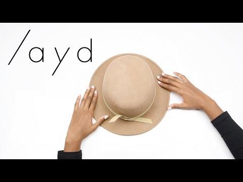 LAYD Wool Felt Hat Silk Lining Tutorial