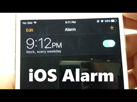 iPhone 7 How to Set Alarm iOS 10