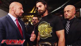 Triple H confronts Seth Rollins: Raw, April 20, 2015