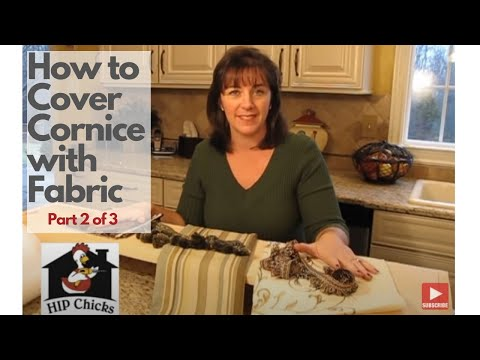 How to Cover a Cornice Board w/ Fabric - HIP Chicks part 2