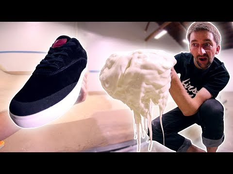 THE FIRST EVER NON NEWTONIAN FLUID SKATE SHOES!?