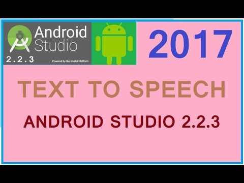 Android studio 2.3.3 tutorial 2017. Android simple text to speech tutorial. Android tts example.