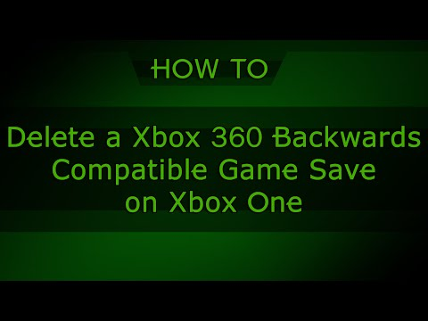 HOW TO: Delete Xbox 360 Backwards Compatible Game Saves on Xbox One