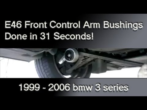 How to replace bmw E46 3 Series Front Control Arm Bushings : Removal & Installation on a lift