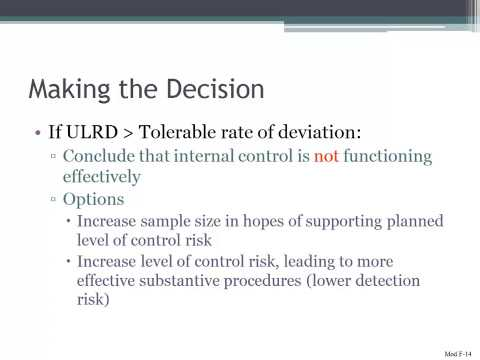 Making the Decision in Auditing