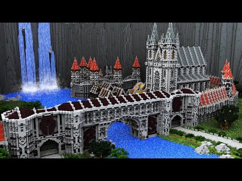 Epic Minecraft Medieval City Timelapse - The Waterfall City [Part 1]