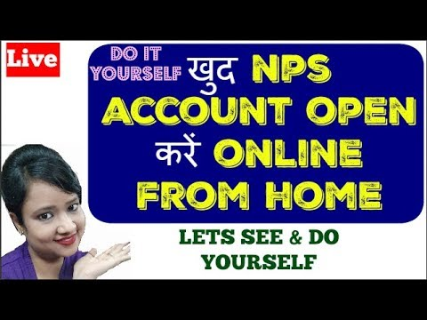 How to open NPS account online from home live demo to save tax on contribution of Rs.50000 for 2018