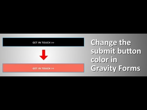 Changing the submit button color in Gravity Forms