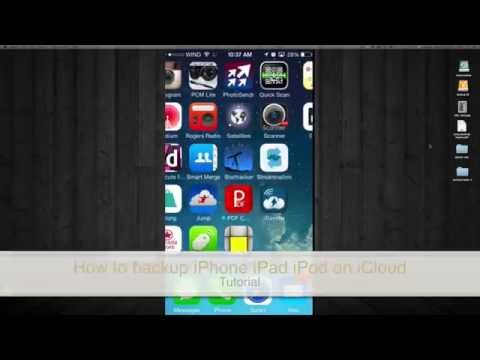 How to backup iPhone iPad iPod in iCloud how to make a back up in iCloud