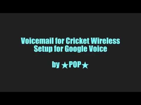 ☆POP☆ PhoneTech | Voicemail for Cricket Wireless using Google Voice