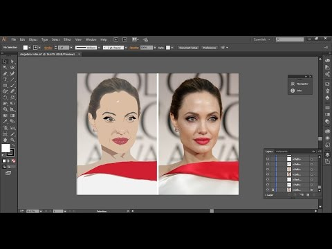 Angelina Jolie Vector in Adobe Illustrator(part 1)