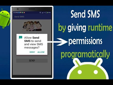 Send SMS Message using SmSManager by Requesting Runtime Permission| Android App Development video#12