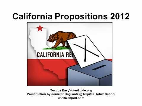 California Propositions 2012