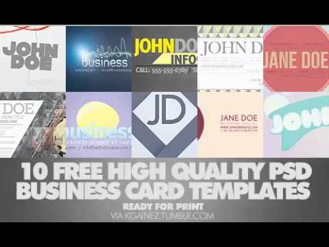 10 FREE Business Card Templates (PSDs)