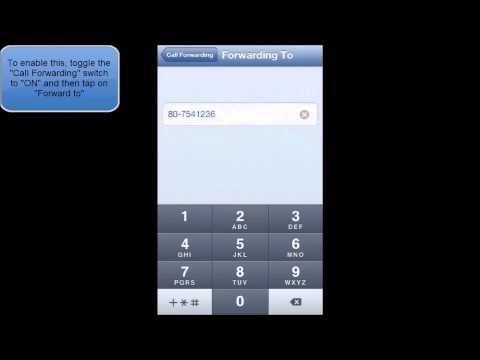 HOW TO ENABLE OR DISABLE CALL FORWARDING IN IOS 6 (IPHONE 5)